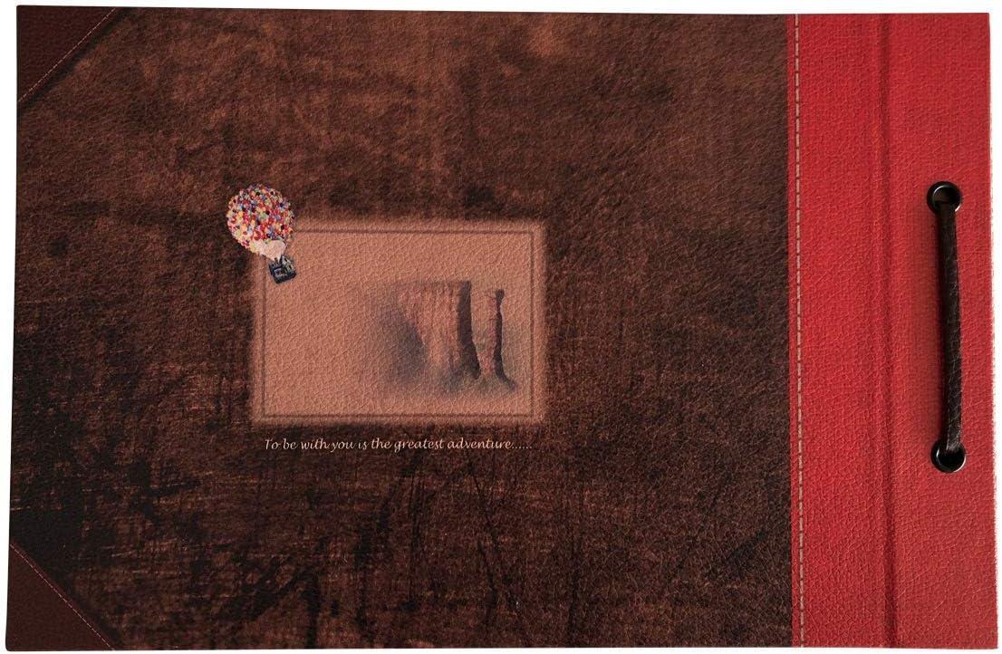 couverture en cuir avec des mots convexes album Scrapbook Vintage sur le th/ème papier cartonn/é de bricolage r/étro LINKEDWIN notre livre daventure livre dor de mariage our adventure book