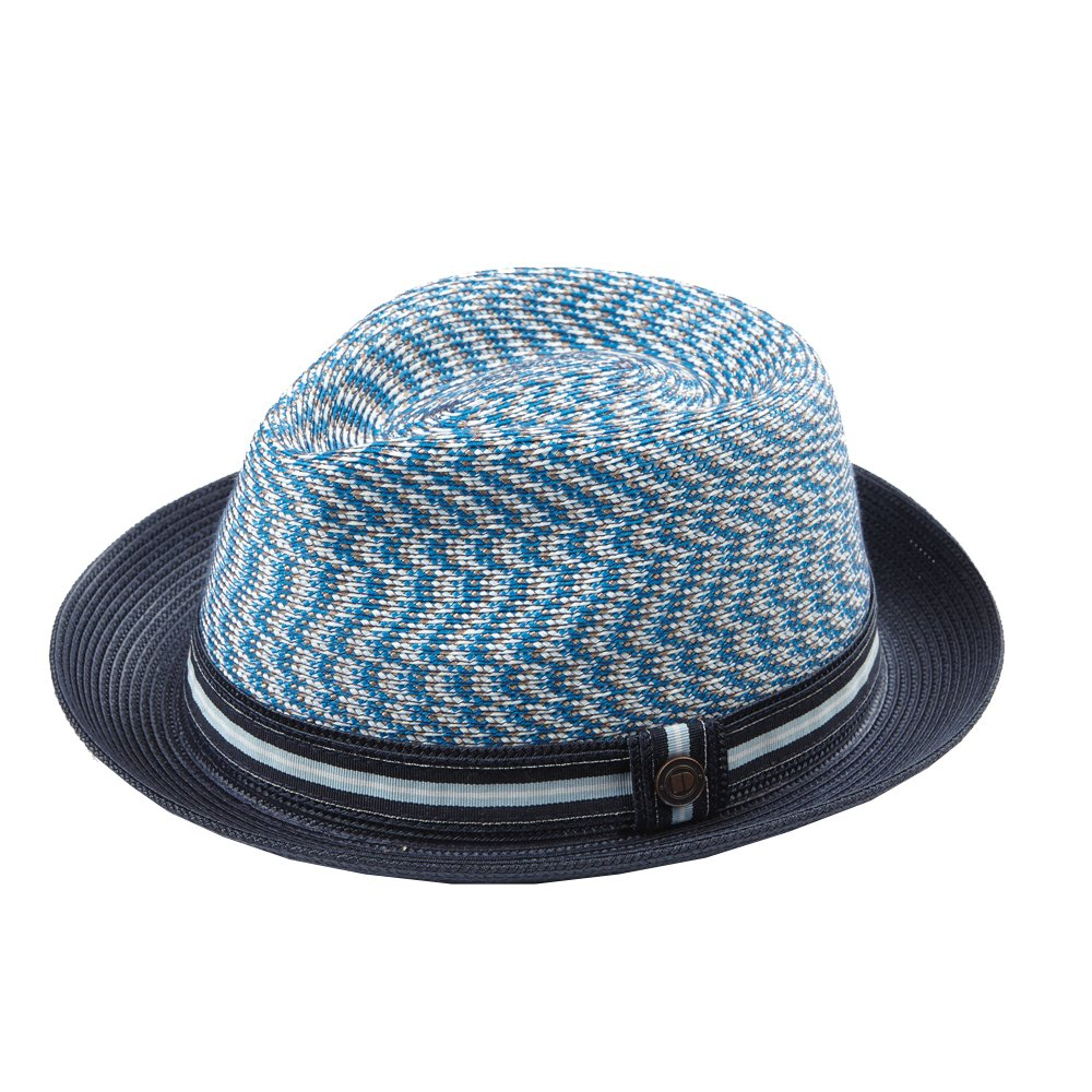 Dasmarca Mens Summer Foldable Packable Trilby Hat - Adrian Aqua M