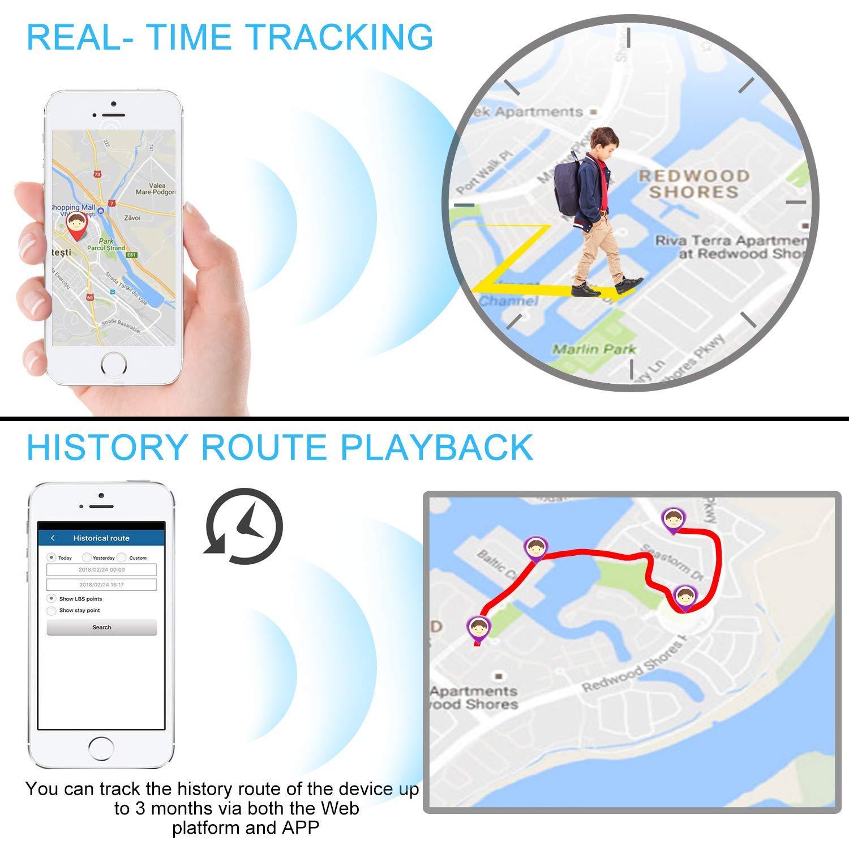 Hangang Mini GPS Tracker Localizador GPS Rastreador GPS Antirrobo de SMS Seguimiento en Tiempo Real para Coche Vehículos Moto Bicicletas Niños ...