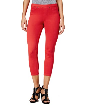 9da8b6c3629115 Hue Original Jeans Shaping Capri Leggings Apple Red, Small at Amazon ...