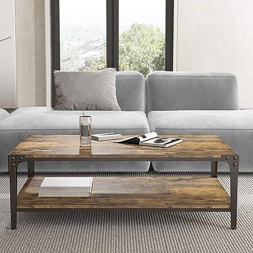Allewie 44 Wooden Rustic Coffee Table