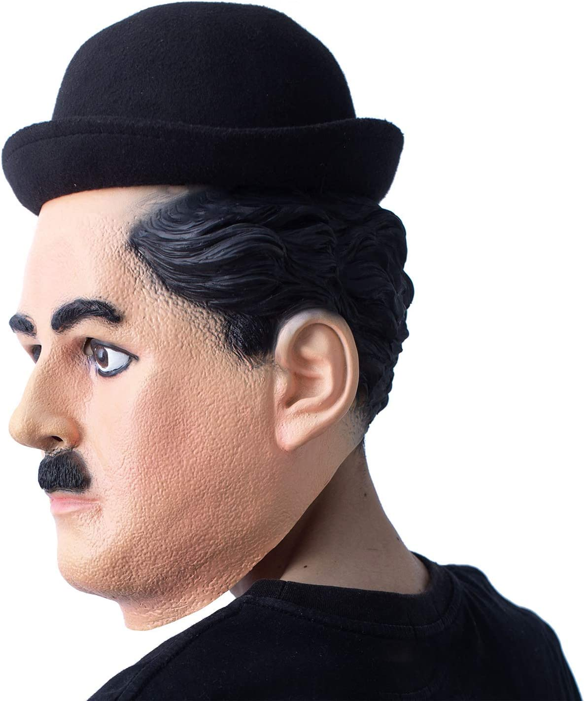 Charlie Chaplin Mask Latex Famous Silent 1920/'s Actor Face Mask Fancy Party