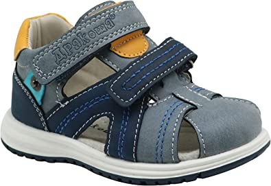 Apakowa Boys and Girls Double Adjustable Strap Closed-Toe Sandals