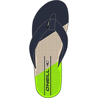 9fac4c015187e O Neill Mens Imprint Punch Flip Flops (8 UK) (Fluor Green)  Amazon ...
