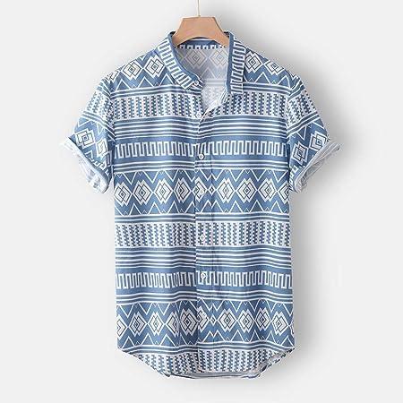 Camisas Hawaianas Hombre Manga Corta 2020 SHOBDW Playa de Verano Camisas Hombres Tallas Grandes Botón Cuello de Solapa Blouse Tops Casual Camisas Hombres Estampadas Flores
