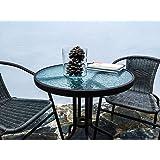 KieferGarden Gastromesa redonda para terraza balcón o jardín