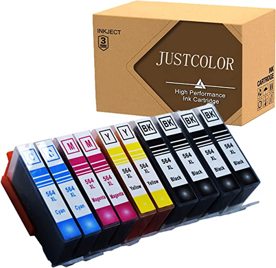 JUSTCOLOR 564XL Ink Cartridges Replacement for HP 564XL Use with HP Photosmart 7520 5514 5520 6520 7510 7515 7525 6510 C6380 B8550 Officejet 4620 ...