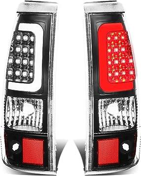 Driver and Passenger Side DNA Motoring TL-CSIL03-LED-3D-BK-SM Tail Brake Lights