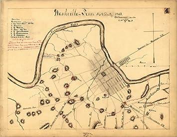 amazon 1863 civil warマップナッシュビルの戦い テネシー州ナッシュ