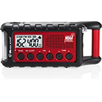 Midland ER310 Emergency Solar Hand Crank AM FM Digital Weather Radio with Cree LED Flashlight and USB Charger Output