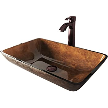 Vigo Rectangular Vessel Bathroom Faucet