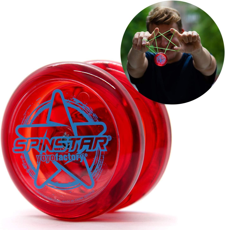 YoyoFactory SPINSTAR Yo-Yo - Rojo (Genial para Principiantes, Juego Yoyo Moderno, Cuerda e Instrucciones Incluidas): Amazon.es: Juguetes y juegos