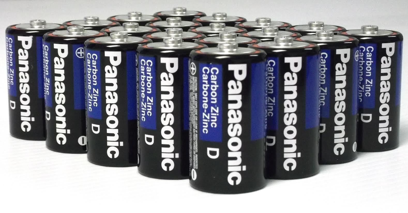 24 Pack Wholesale Lot Panasonic Super Heavy Duty D Batteries