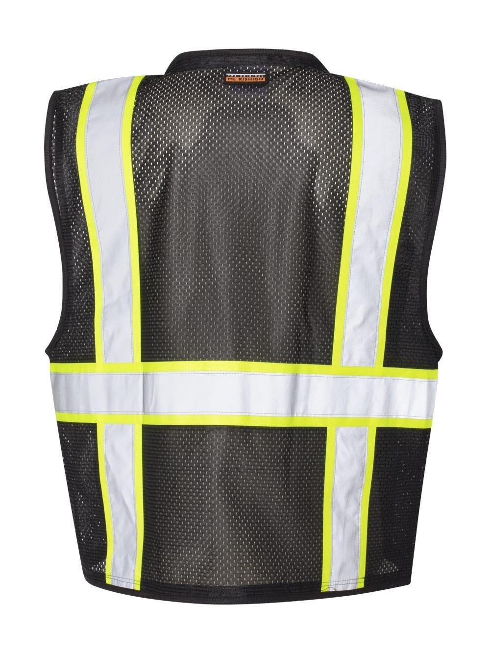 ML Kishigo Men's Enhanced Visibility Multi-Pocket Mesh Vest — Black, Small/Medium, Model# B-100-S-M by ML Kishigo