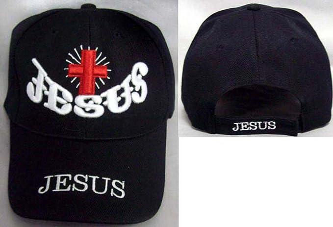 b7304524d Jesus & Cross Christian Catholic Baseball Caps Hats Embroidered ...