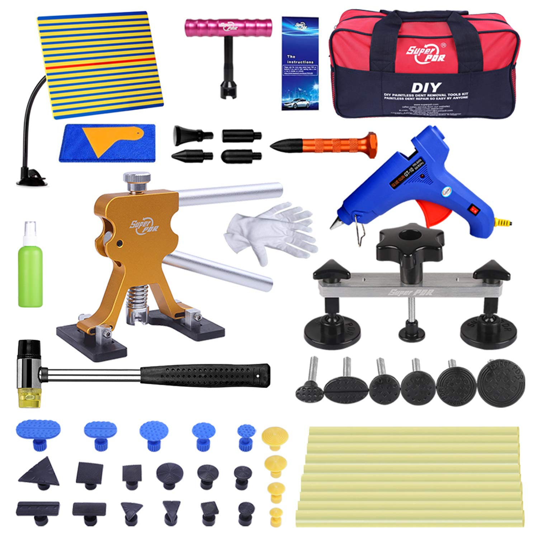AUTOPDR 52Pcs Dent Repair Kit,Professional Dent Puller Kit,PDR Tools 52Pcs Dent Remover for Car Body Dent Repair Kit