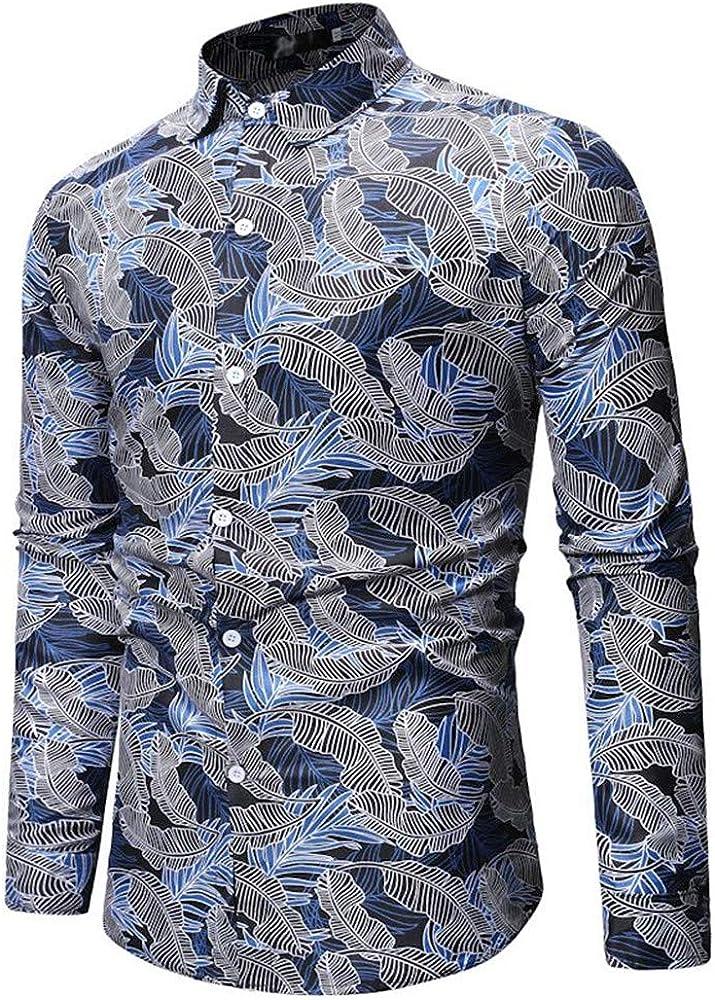 SXZG Tops para Hombre Nuevo patrón geométrico Camisa para Hombre Camisa básica de Manga Larga de Color de Moda Irregular: Amazon.es: Ropa y accesorios