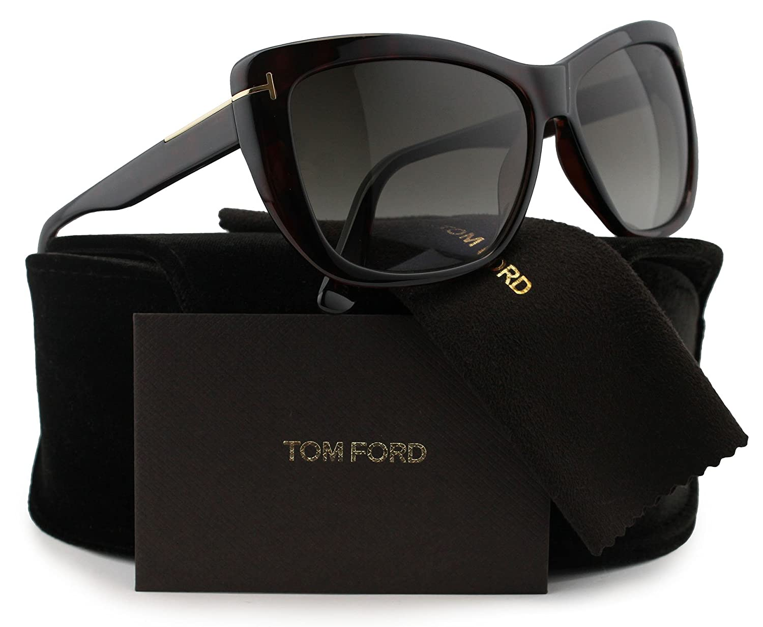 b20b058ce28 Amazon.com  TOM FORD FT0434 Lindsay Sunglasses Dark Havana w Brown Gradient  (52K) TF 434 52K 58mm Authentic  Clothing