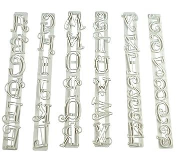 Anokay Moldes de Tartas y Galletas en Forma de Letras, Nš²meros y Puntuaciones para Decoraciš®n de Pasteles (6 piezas): Amazon.es: Hogar