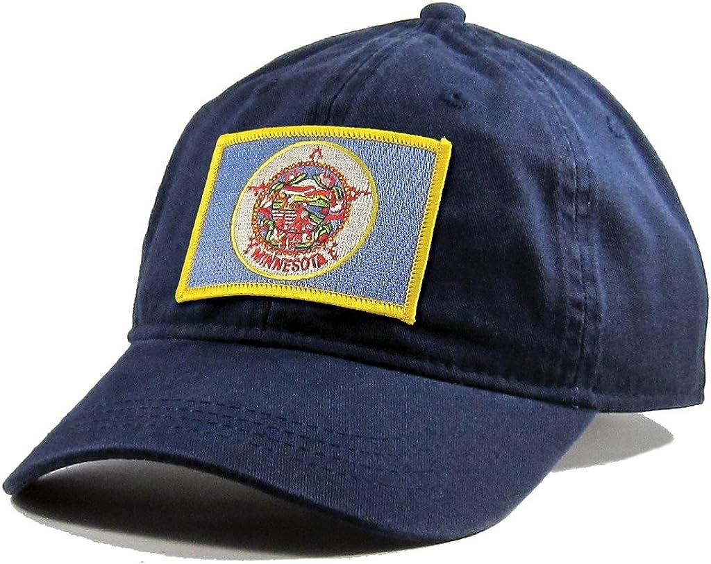 Homeland Tees Mens Minnesota Flag Patch Cotton Twill Hat