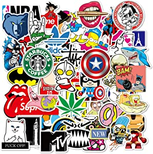 DEEVEER 100Pcs Cool Waterproof Stickers for Water Bottles Vinyl Sticker Pack for Laptop Skateboard Car Kids Teens Adults