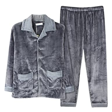Man coral fleece Pajama set in autumn and winter/Thick flannel clothing in winter/