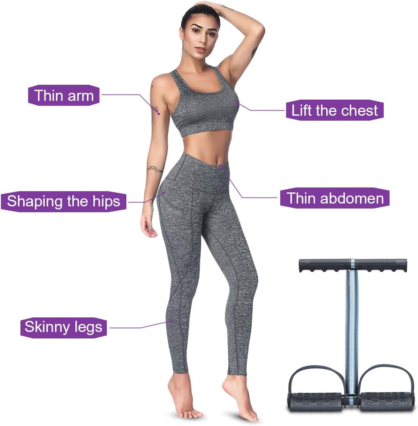 Covvy Elastic Sit Up Pull Rope Ressort Tension P/édale Abdomen Leg Exerciser Tummy Trimmer Equipment Exp/érimentateur de Musculation la Remise en Forme Yoga Training