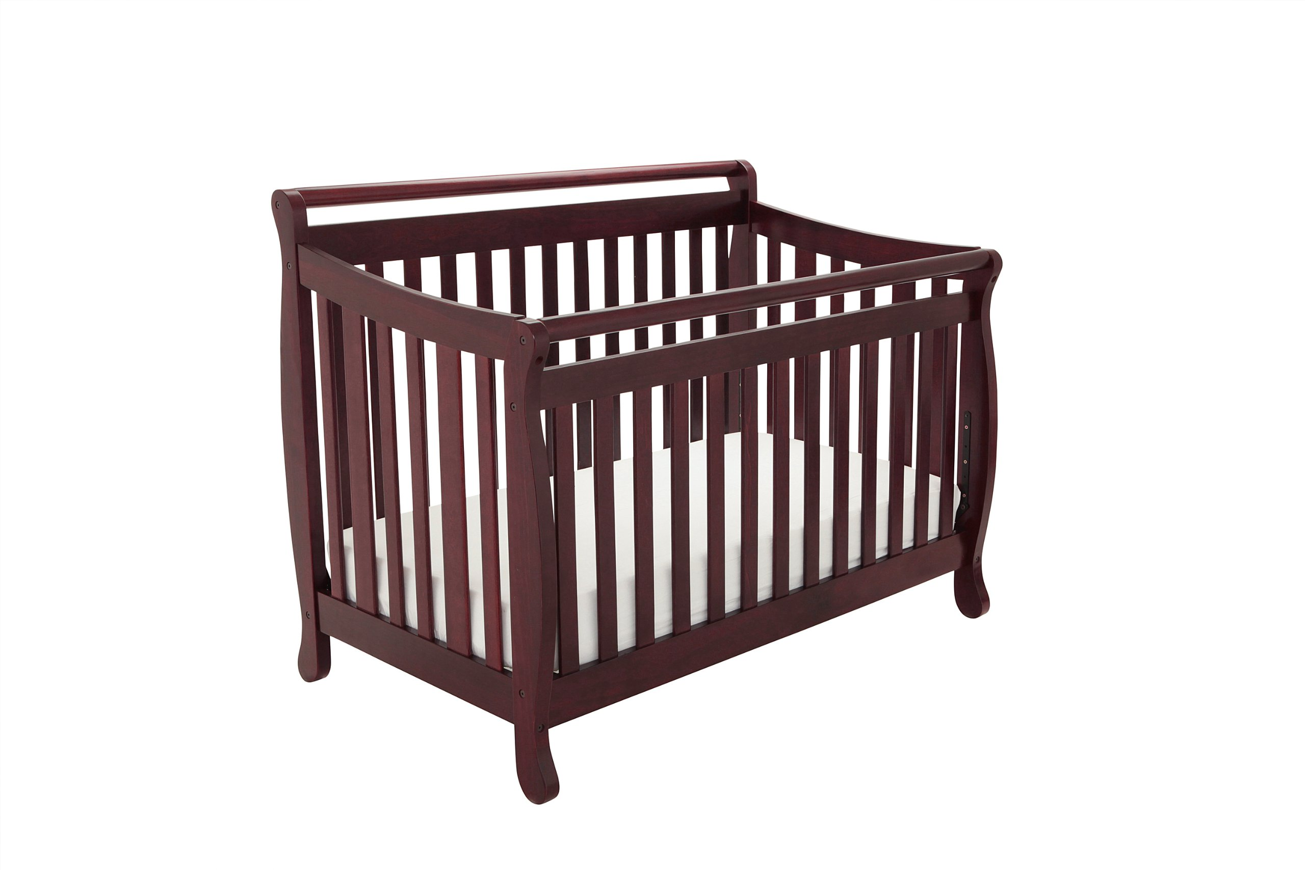 Athena Amy 3 in 1 Crib with Toddler Rail, Cherry by Athena
