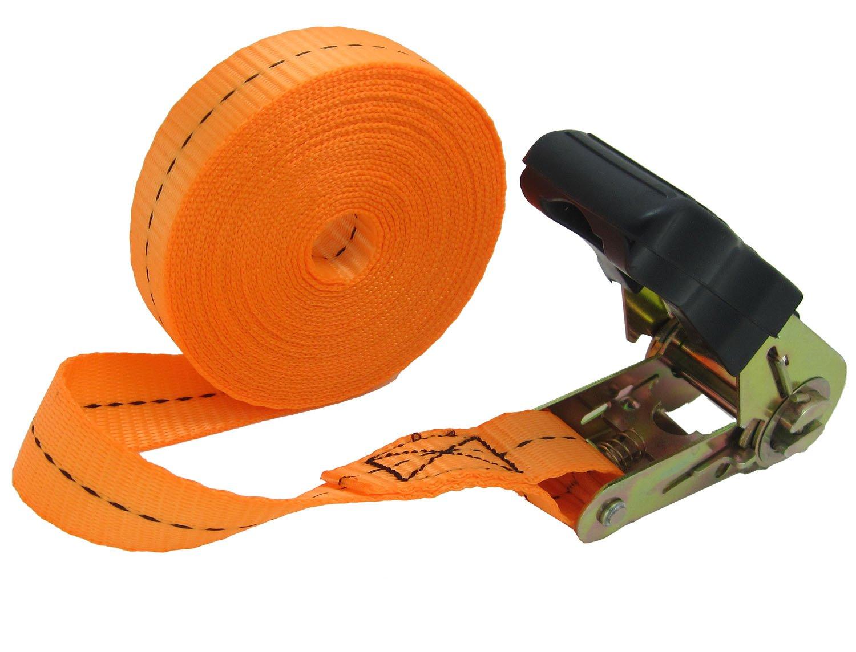 WINGONEER Endless Loop Ratchet Tie-Down Standard Duty Ratchet Endless No Hooks/Lashing, 1,700 lbs.196inch - Orange