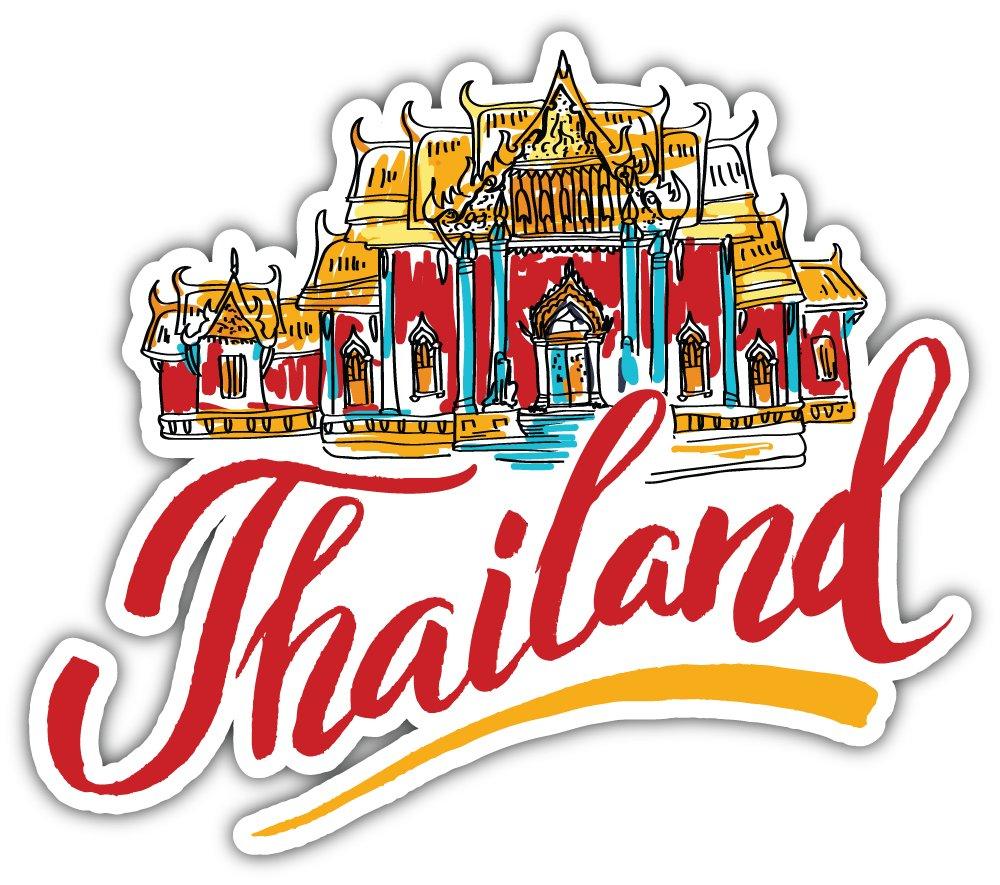 Skybug traveling to thailand bumper sticker vinyl art decal for car truck van window bike laptop amazon co uk kitchen home