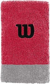 Wilson Muñequera de tenis, Ancha, Felpa francesa, Magenta/gris/negro, WRA733520: Amazon.es: Deportes y aire libre