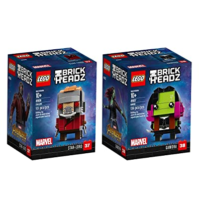 LEGO 6237625 Brickheadz Star-Lord and Gamora Bundle Building Kit (249 Piece): Toys & Games