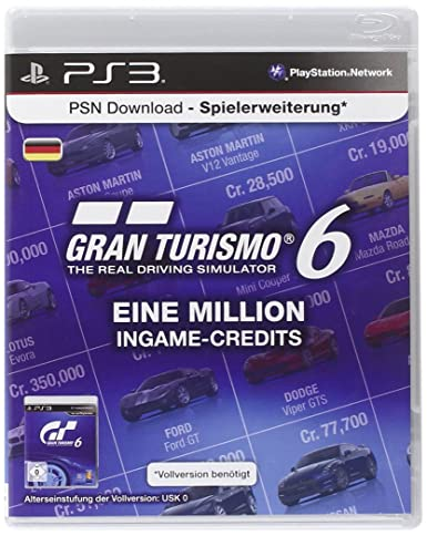 Playstation Network Card (10 Euro) Gran Turismo 6 Livecard ...