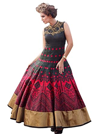 New Designer Red Black Partywear Evening Gown For Young Girls at ...