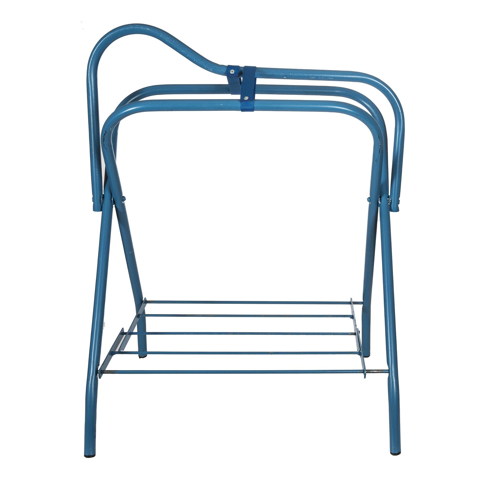Intrepid International Folding Saddle Stand, Blue