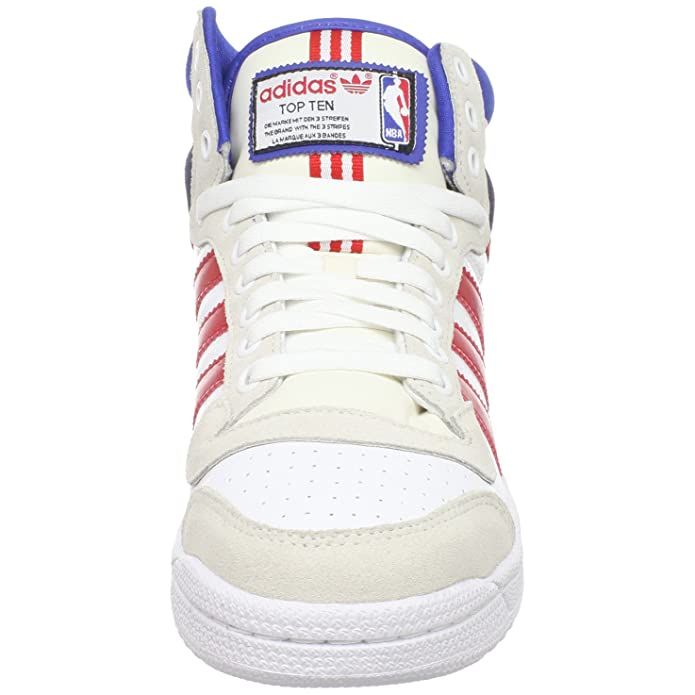 big sale 490f0 e30e2 Amazon.com   adidas Originals Men s Top Ten Hi NBA Sneaker, Running  White Red Blue, 10 M US   Running