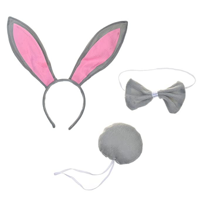 Amazon.com: Bcp animales conejo orejas de conejo cola y ...