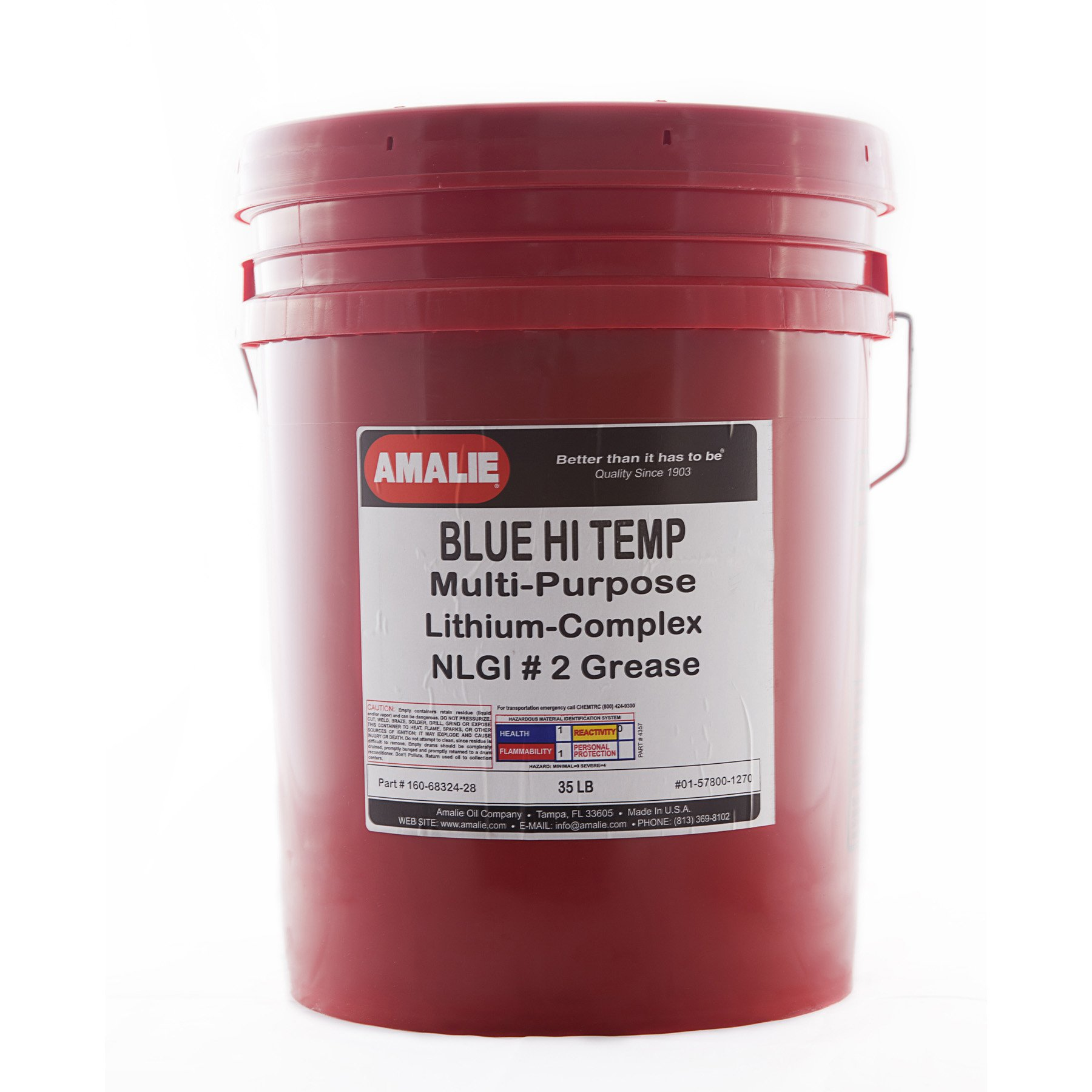 Amalie Blue Hi Temp Grease - 35lb pail by Amalie