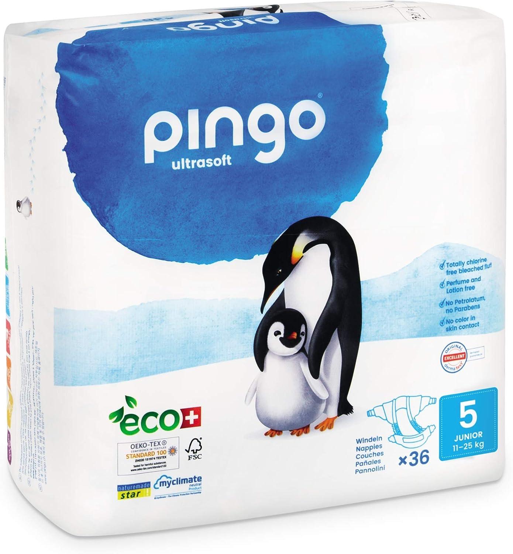 12-25 kg Biowindeln Pingo Gr/ö/ße 5 Junior Box mit 2 x 36