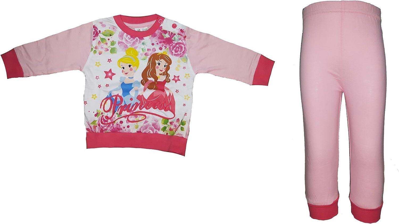 Disney Pigiama neonata Manica Lunga Puro Cotone Principesse Art WD101131 Rosa