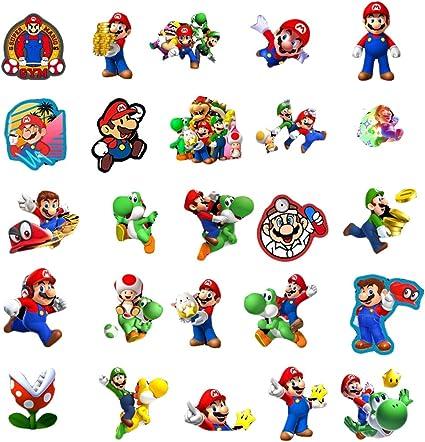 50 Pegatinas De Super Mario, Vinilo Pegatinas Para Coche Portatil ...