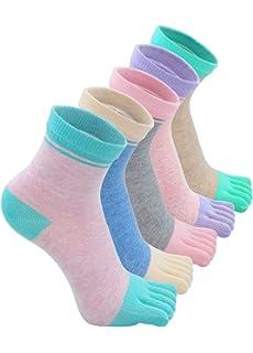 Mogao Caves Calcetines de Dedos Mujer Calcetines Cinco Dedos de Deporte,Algodón separados pies calcetines