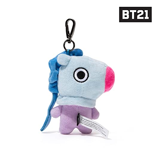 BT21 Official Merchandise by Line Friends - MANG Character Doll Keychain Ring Cute Handbag Accessories