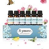 Skymore Kit Huiles Essentielles Top 6, Aromathérapie Humidificateurs Oils, 100% Pures & Naturelles Ingrédients, Therapeutic Grade Essential Oils, Parfait Cadeau Pour Noël