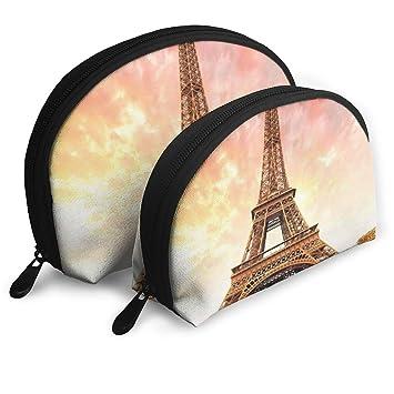 c285defdfe42 Shell Shape Makeup Bag Set Portable Purse Travel ... - Amazon.com
