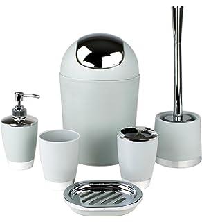 GMMH - Juego de Accesorios para baño (6 Piezas, Incluye dispensador de jabón,