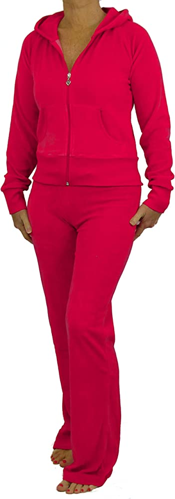 Love Lola Chándal de terciopelo para mujer, chaqueta con capucha ...