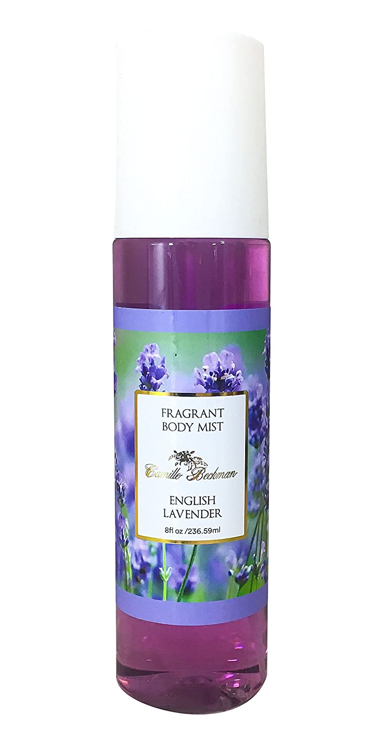 Camille Beckman Fragrant Body Mist, Alcohol Free, English Lavender, 8 Ounce