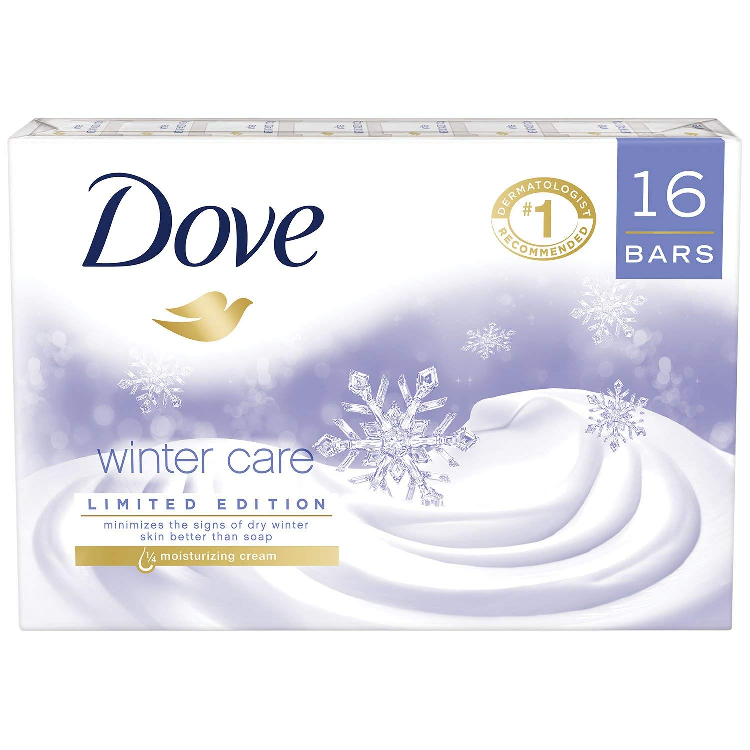 Dove Beauty Bar, Winter Care (4 oz, 16 ct.) by Dove (Image #1)