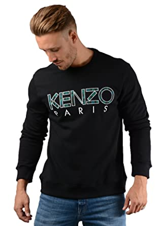 co ukClothing Sweatshirt Paris In F865sw000 BlackAmazon Mens Kenzo lFKuT135cJ